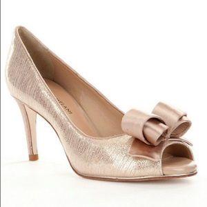ANTONIO MELANI bow peep toe shoes